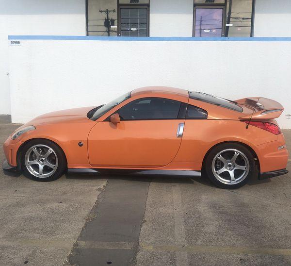 2 Door Nissan 350Z Orange Car For Sale! For Sale In Dallas
