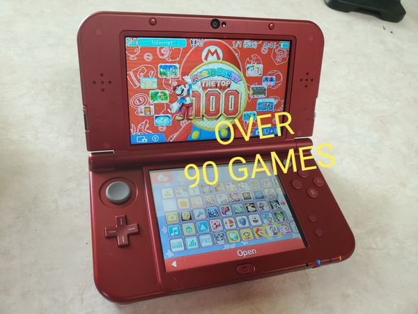 Modded new 3ds xl red color with 90+games-32gb-luma 9 1-b9s for Sale in  Chico, CA - OfferUp