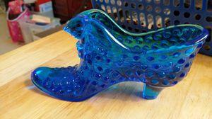 Fenton cobalt blue glass slipper. for Sale in Oakton, VA