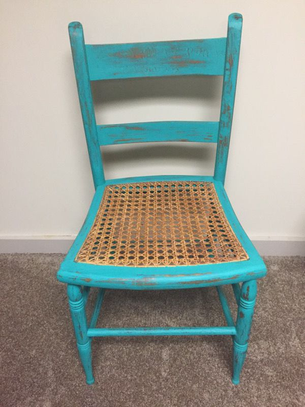 Excellent Chalk Painted Wooden Chair Wicker Center For Sale In Uniontown Oh Offerup Home Interior And Landscaping Oversignezvosmurscom
