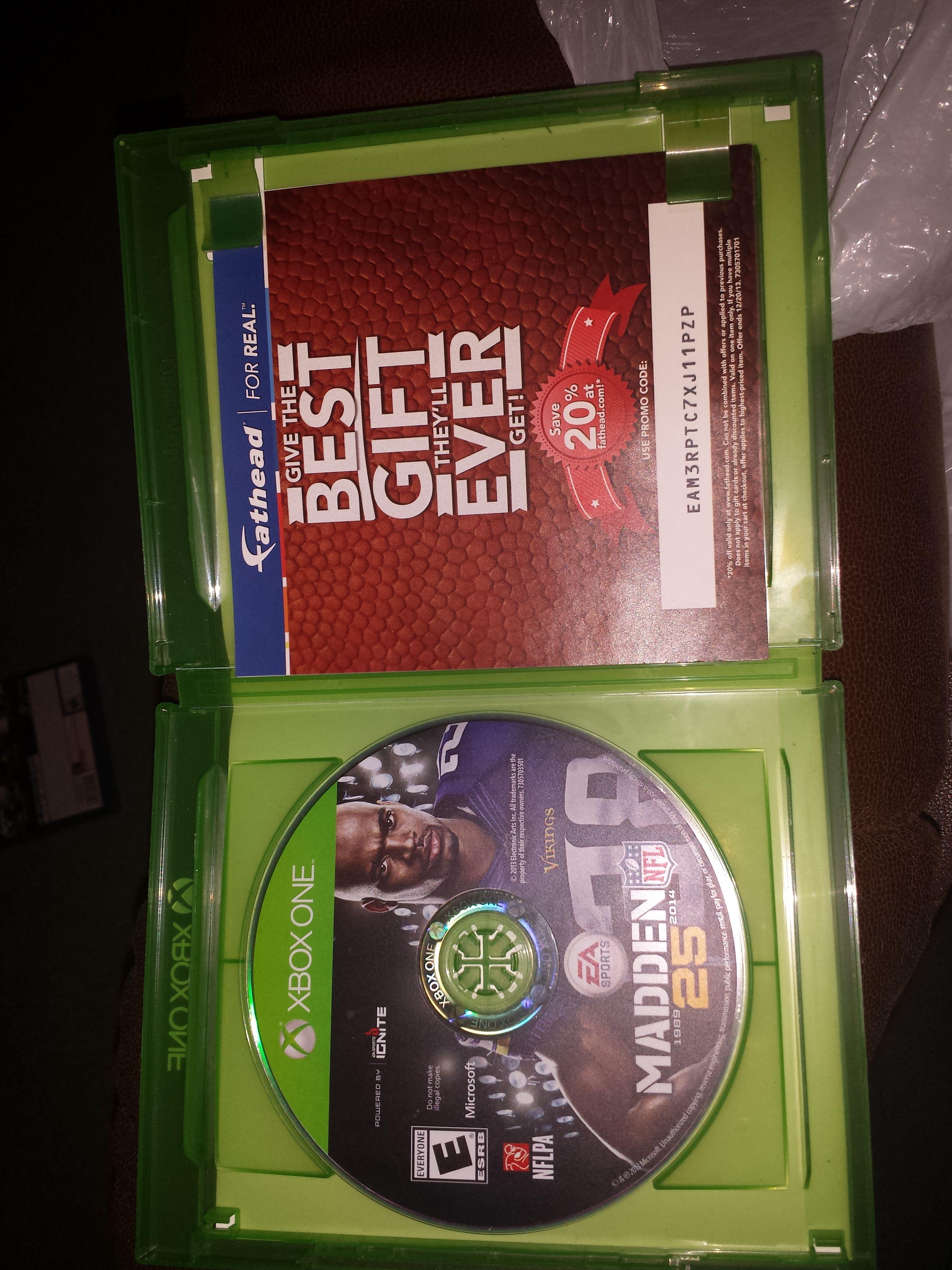 New madden 25th Anniversary Xbox one game