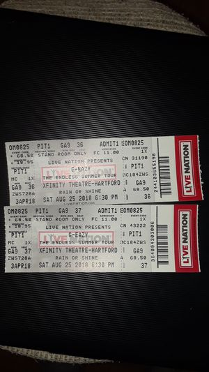 2 G-Eazy Tickets 8/25 Hartford,CT for Sale in Boston, MA