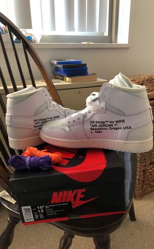 Jordan 1 Off-White 10.5 for Sale in Falls Church, VA