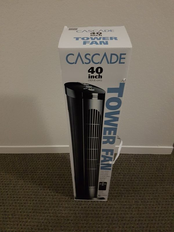 NEW CASCADE 40 inch Tower Fan with Remote Control battery included for Sale  in Hillsborough, CA - OfferUp