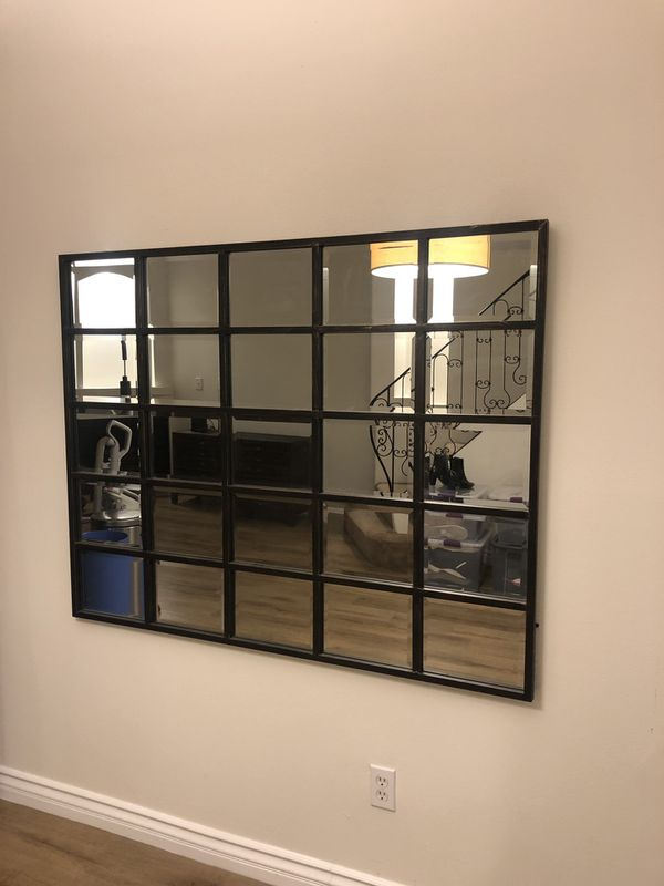 Pottery Barn Restoration Hardware Style Wall Mirror For