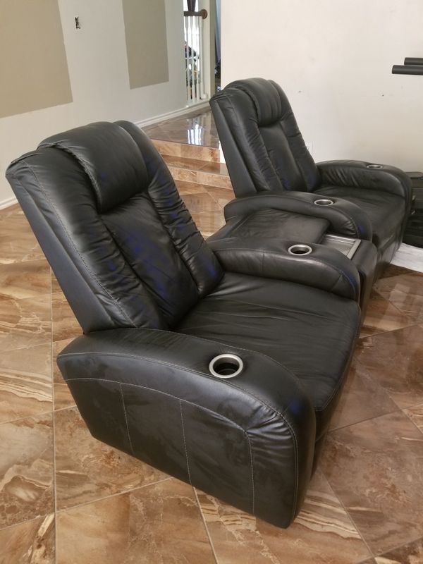 Ashley Furniture Theatre Seats With Console Leather Poly For Sale In Humble Tx Offerup