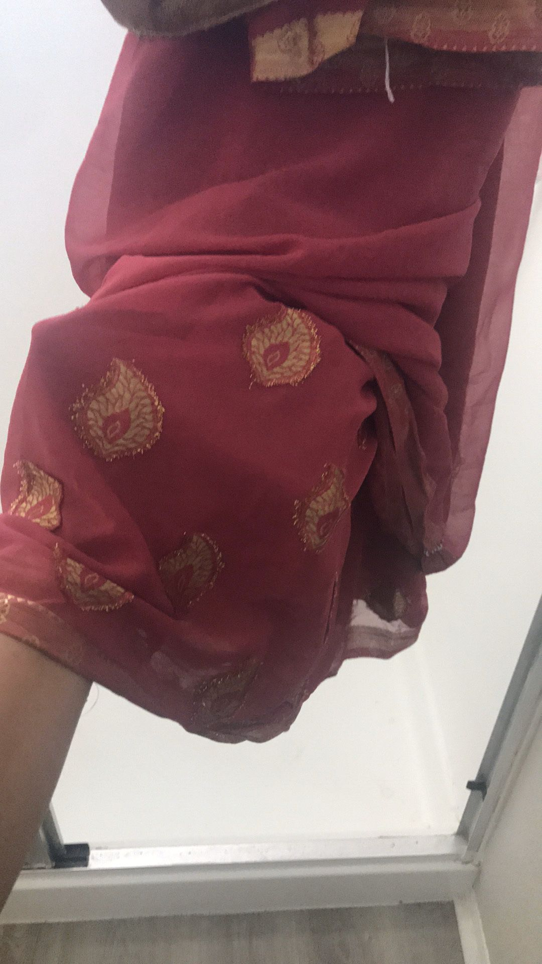 Maroon/ Gold Sari, only worn once