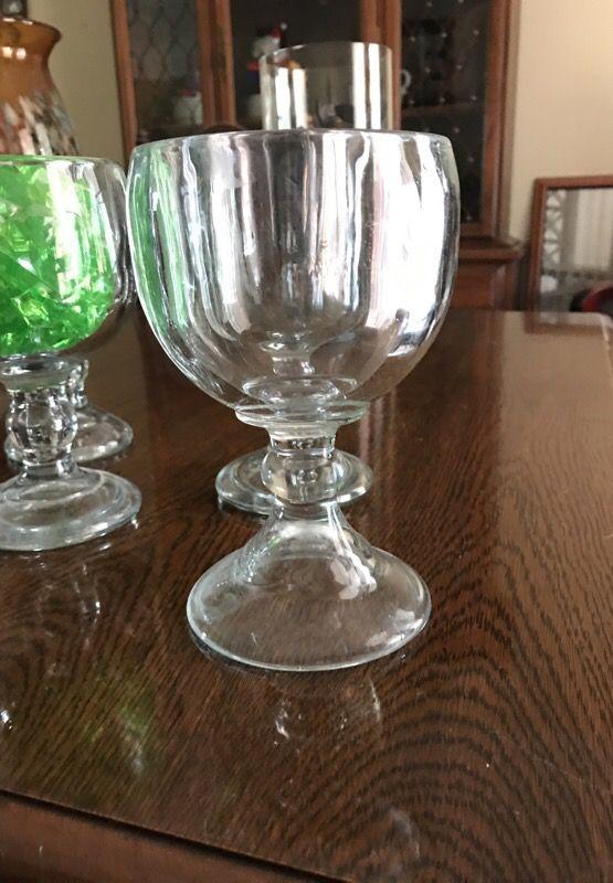 Set of 4 super thick margarita glasses $15 all