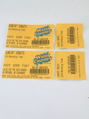Water country tickets for Sale in Cambridge, MA