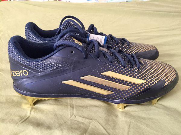 the latest 4fd57 b306f Adidas Adizero Afterburner 2.0 Metal Baseball Cleats Navy Gold Size 10.5 or  13 AQ8802