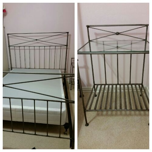 Pier One Medici Queen Bed Frame And Two Nightstands For Sale In Arlington TX