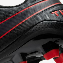 Nike Tiempo Legend Size 8.5 MG Black/Red Soccer Cleats Thumbnail
