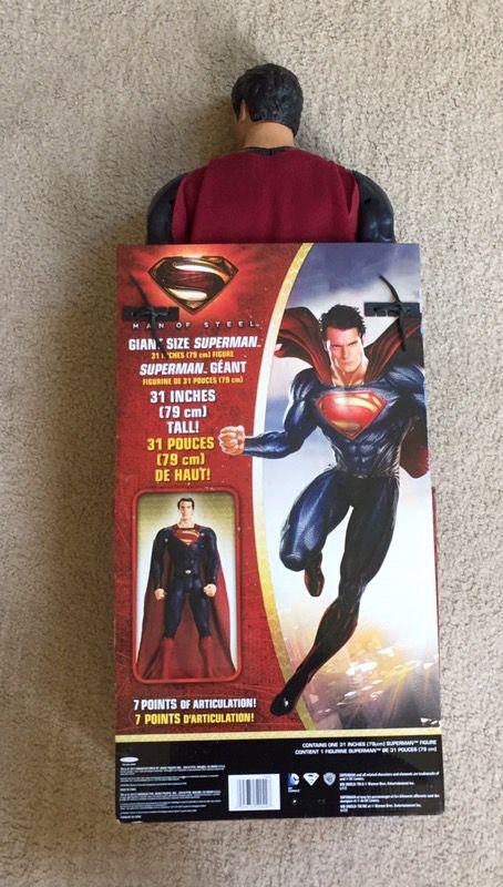 "31"" super man figure"