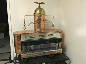 PRICE DROP--espresso machine - SHOWPIECE - 3 group mega boiler - for sale  US