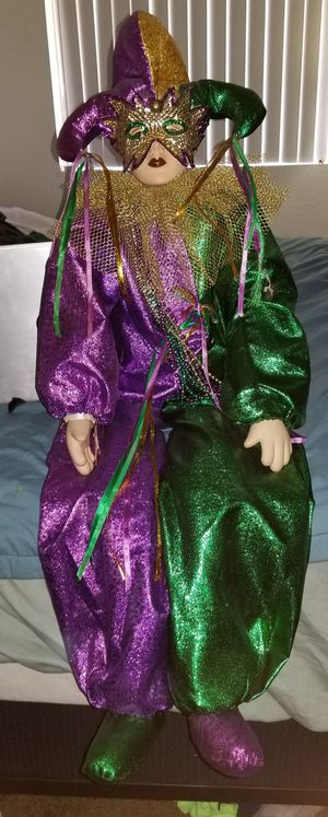 Large Marti Gras Doll. Price negotiable. for Sale in Scottsdale, AZ