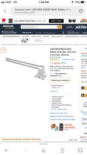 lDR 068k00241 bath safety grab bar 7/8 inch x24 inch chyome for Sale in Alexandria, VA