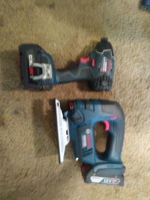 Bosch 18 volt impact and jigsaw for Sale in Parkland, WA