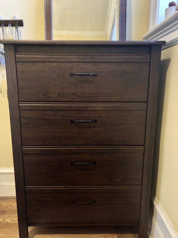 best loved d8260 3559c IKEA Songesand dark brown wood dresser/bureau for sale! for Sale in San  Francisco, CA - OfferUp