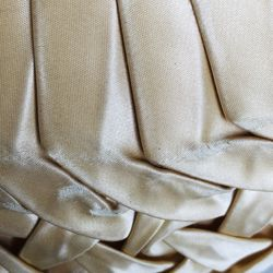 Pair Vintage Ruched TAFFETA Pillow Tucked Pleated Satin Retro GLAM As-Is Thumbnail