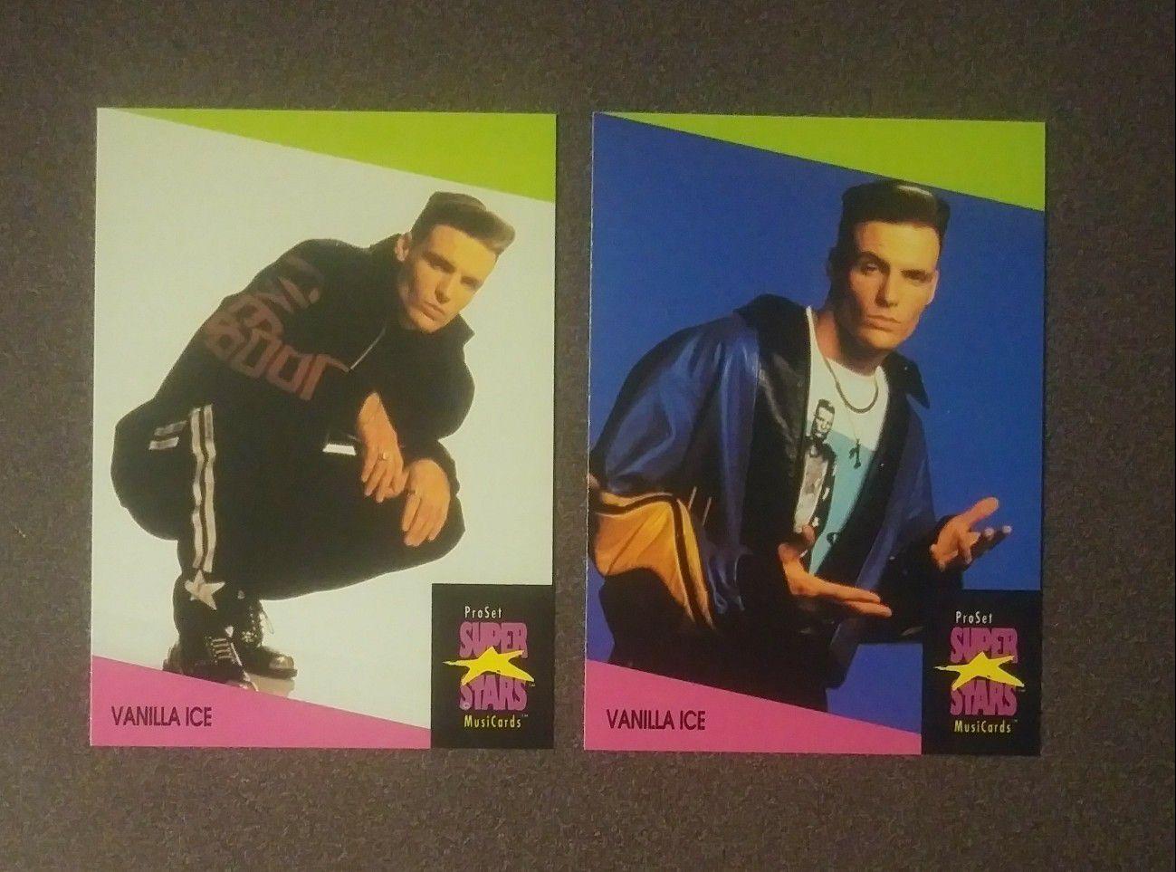 1991 ProSet Vanilla Ice #145 #146 Card Cards Lot Music Rap Artist Express Musicards Superstars Vintage Collectible Pro Set