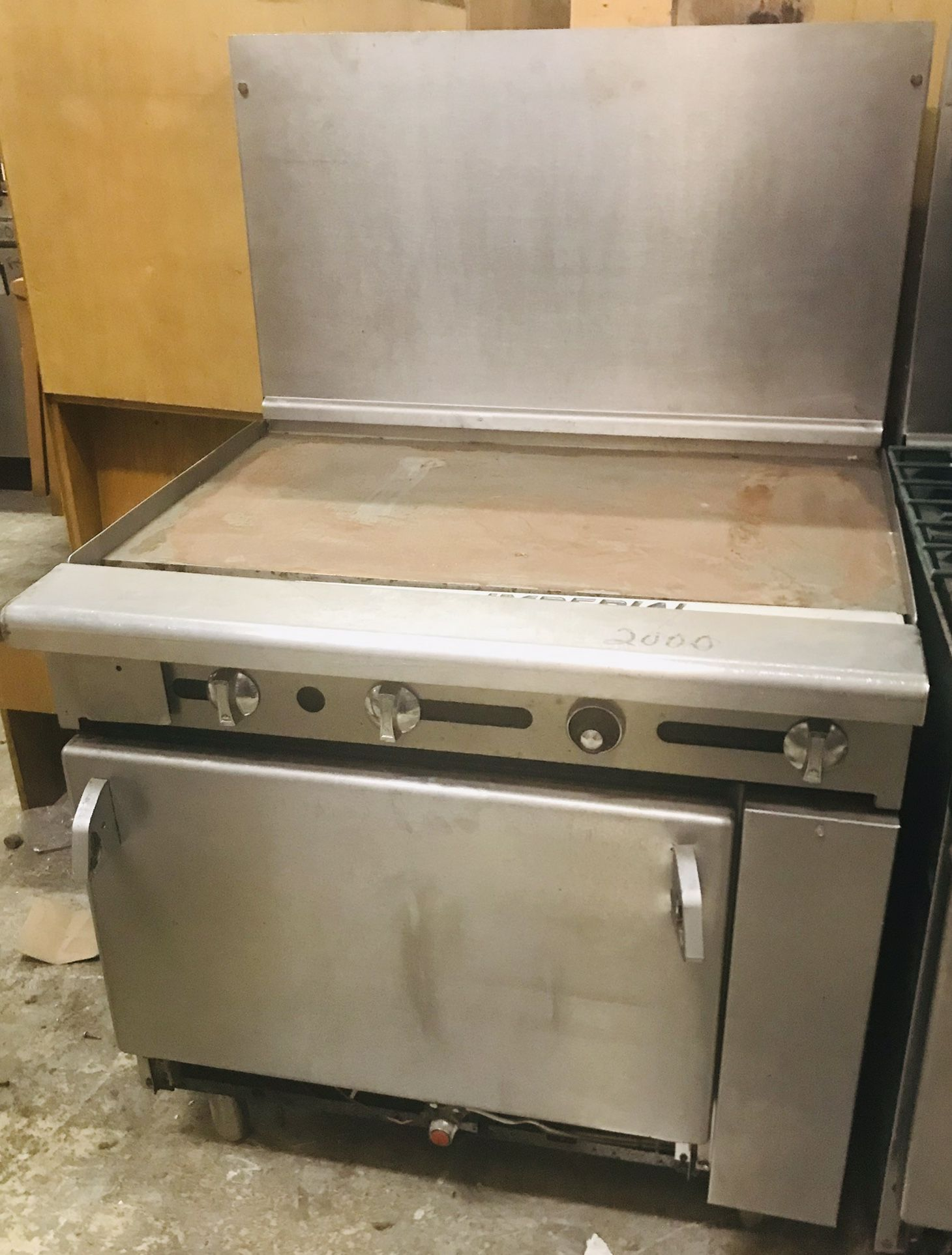 Used Griddle with Standard Oven