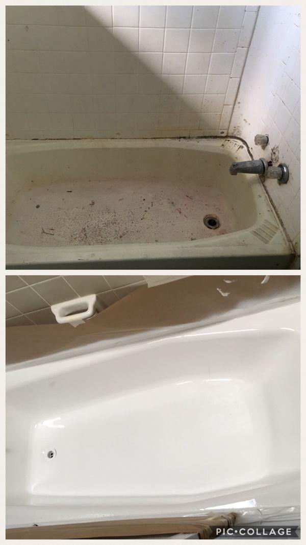 tub and tile, kitchen and bathroom countertops, backsplash, kitchen