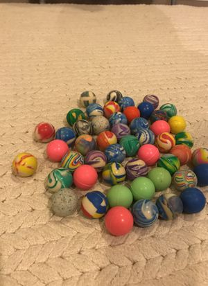 50 different colored bouncy balls for Sale in Stamford, CT