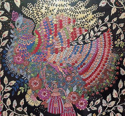 Stunning Artistic Peacock Embroidery Framed Artwork 30 5 X 33 Inch
