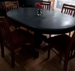 Beautiful Dining Set Table With 5 Chairs . Thumbnail