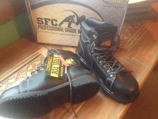 c42b35bb387 SFC PRO BOOTS- Steel toe,never worn, black, men's size 8.5 for Sale in  Tulsa, OK - OfferUp