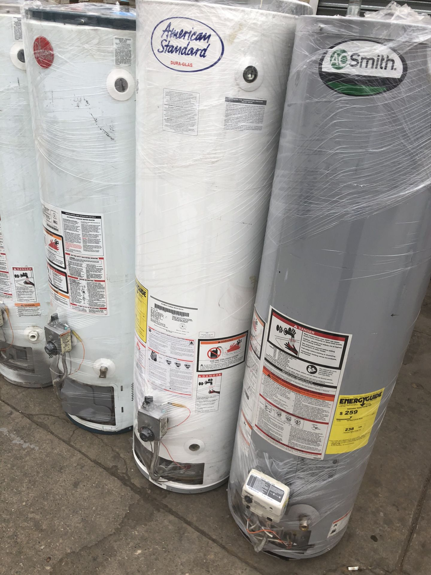 Water heaters and wall heaters sales new and used boilers sales
