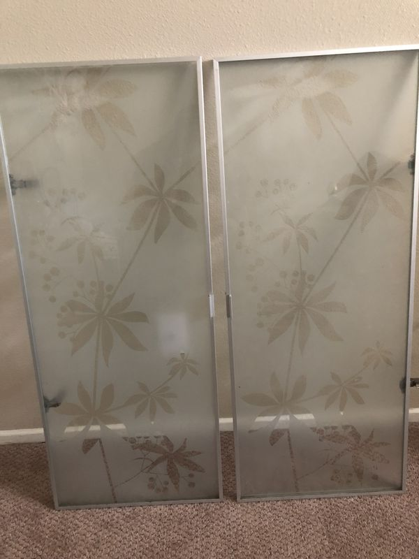 the latest b4876 27c9f Ikea Billy Bookcase Morliden Glass Doors with Modern Flower Pront for Sale  in Fullerton, CA - OfferUp