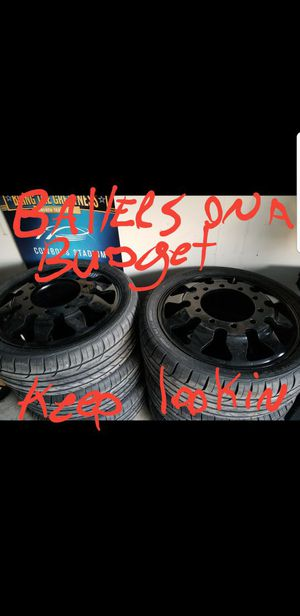 "24"" custom 10 lug dually (6) wheels with brand new tires! for Sale in Austin, TX"