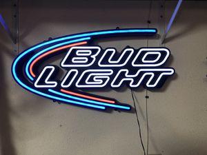 Bud light neon sign for Sale in Kingsburg, CA