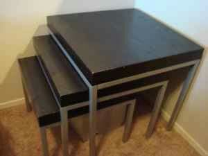 Ikea Klubbo Nesting Tables Set Of 3 For Sale In Snoqualmie Wa