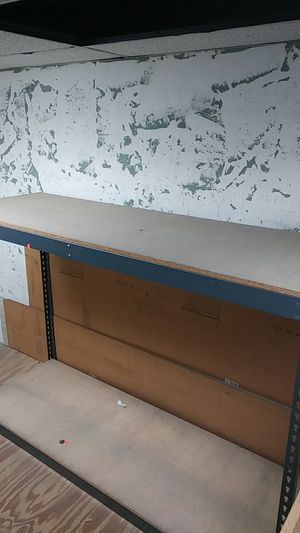 Wooden and steel shelves. 30 in stock, store closing in 2 days for Sale in San Diego, CA