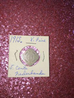 1913 5 cents Netherlands xf Thumbnail