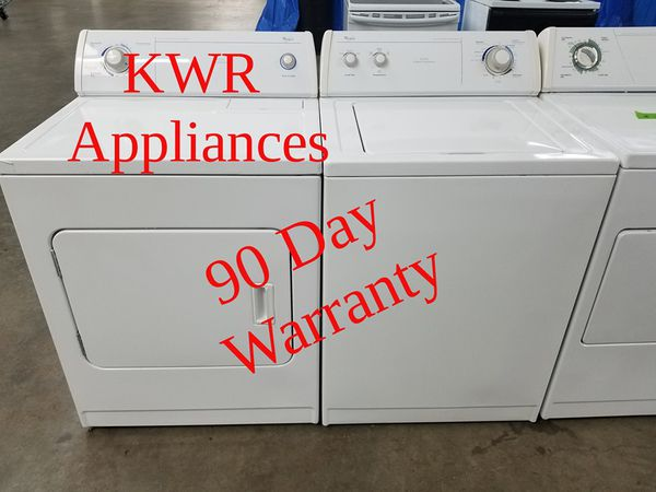 Whirlpool Washer And Dryer With 90 Day Warranty For Sale