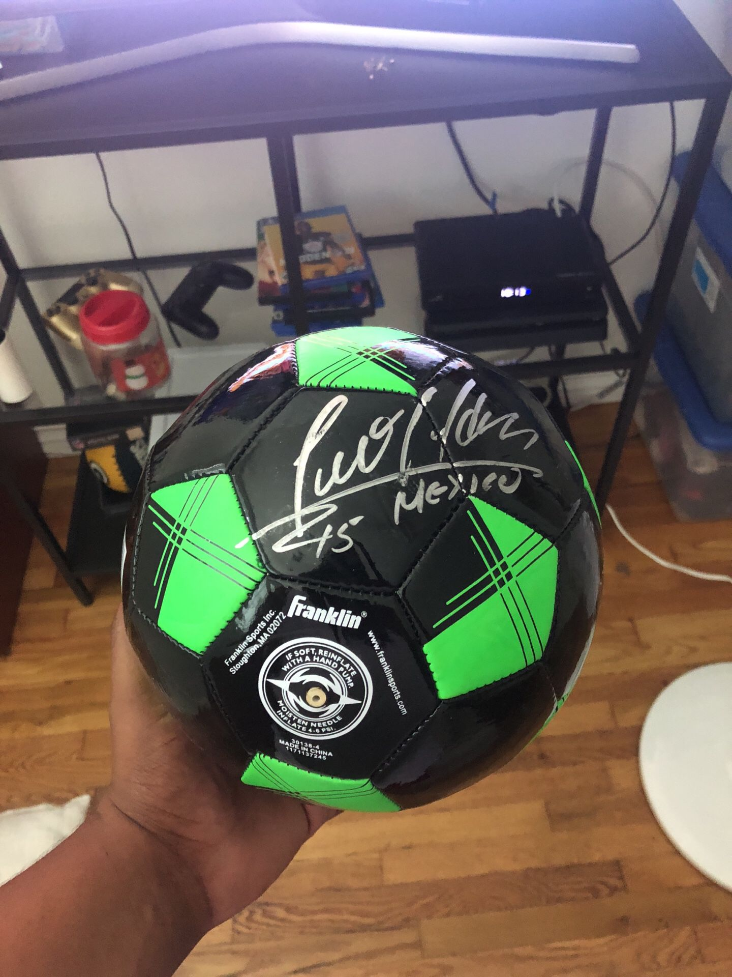 Soccer ball signed by Luis Hernandez