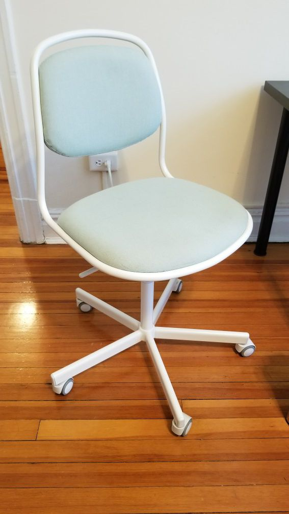 Fine Ikea White Mint Green Chair With Wheels Orfjall Sporren Gmtry Best Dining Table And Chair Ideas Images Gmtryco