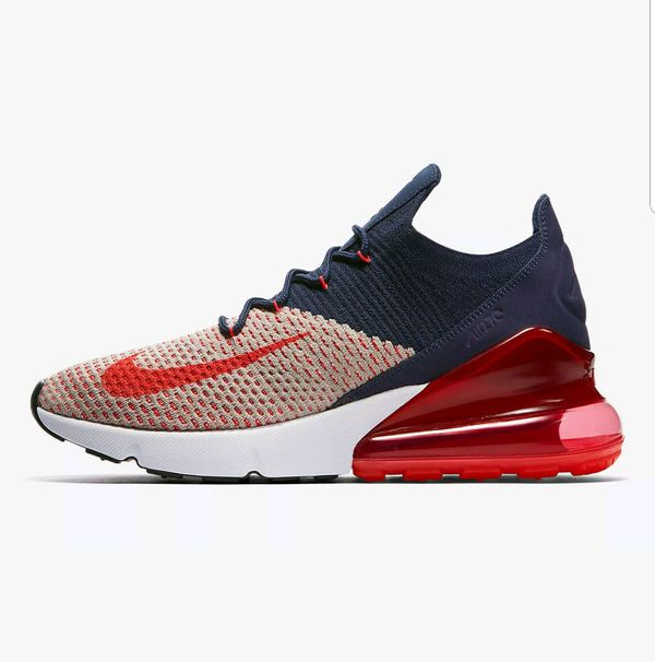 1bf6b829d2da Women s Nike Air Max 270 Flyknit Moon Particle Navy Shoes AH6803-200 ...