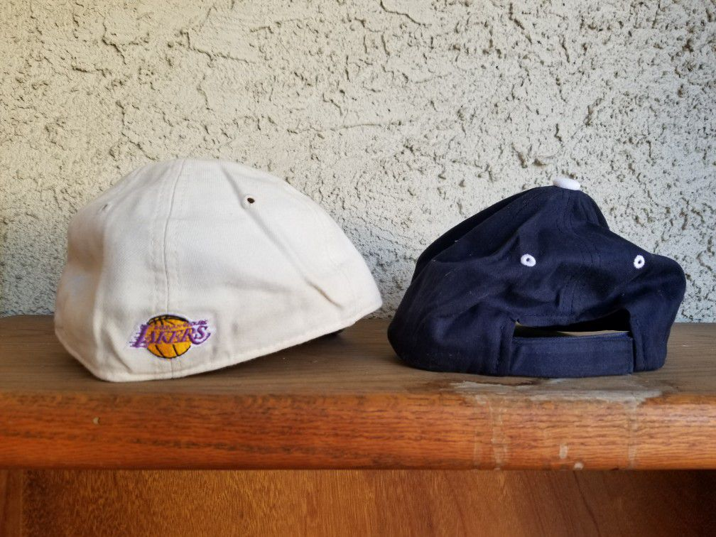 Lakers cap, Superman cap