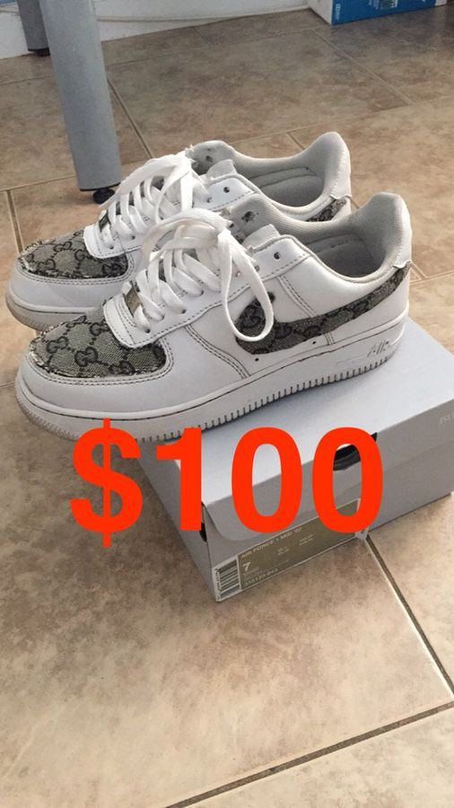 Nike Air Force 1 Gucci Custom For Sale In Anaheim Ca Offerup