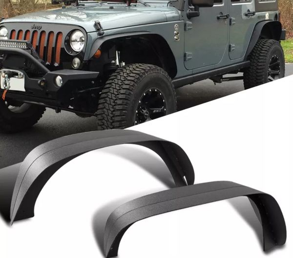 2007~2017 Jeep Wrangler Textured Fender Flares For Sale In