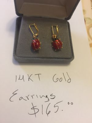 14kt gold earrings for Sale in Arlington, VA