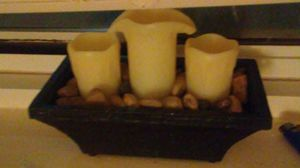 Flameless Candle Water Fountain With Stones for Sale in Takoma Park, MD