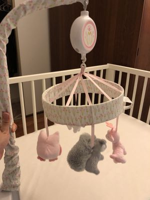 Baby Bedding Crib Musical Mobile with Hanging Rotating Soft Colorful Plush Dolls for Sale in Gaithersburg, MD