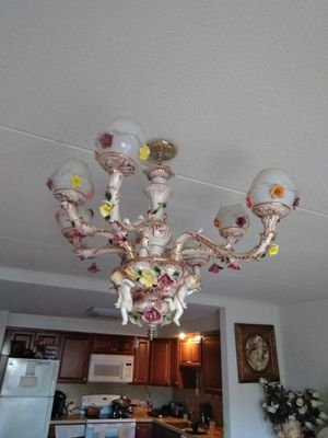 Antiques, pictures and a ceiling lamp for Sale in Bethlehem, PA
