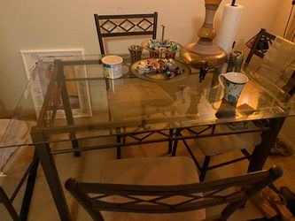 Glass Table With 4 Chairs  Thumbnail