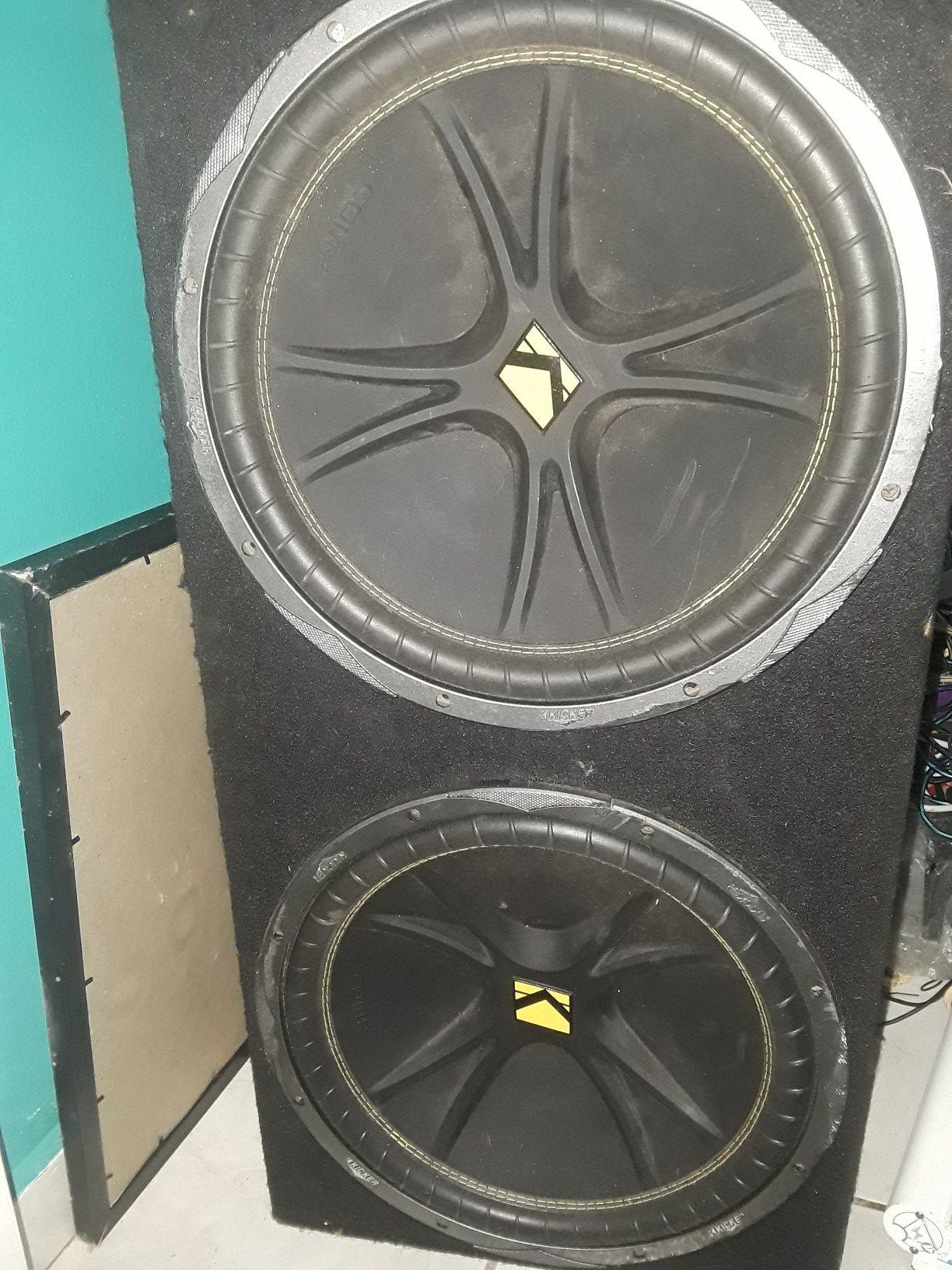 """Speakers 15"""" kicker"""